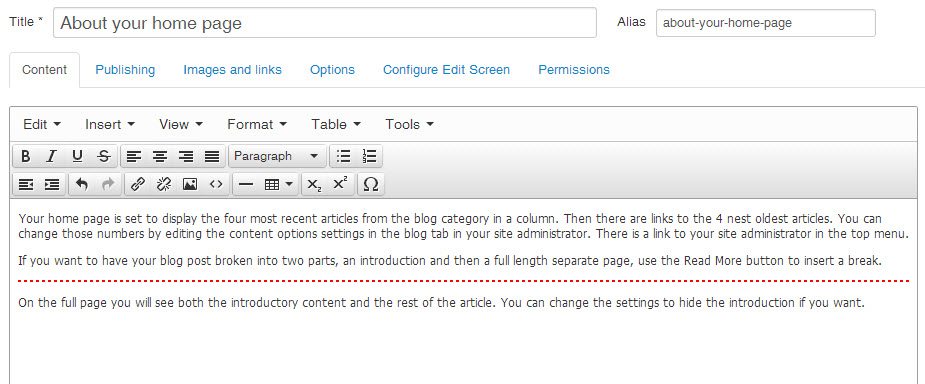 joomla article editor