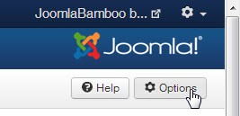 joomla options button