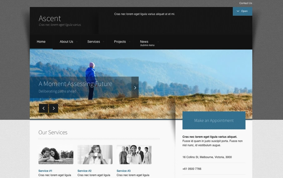 Joomla business templates corporate joomla templates joomlabamboo ascent wajeb Image collections