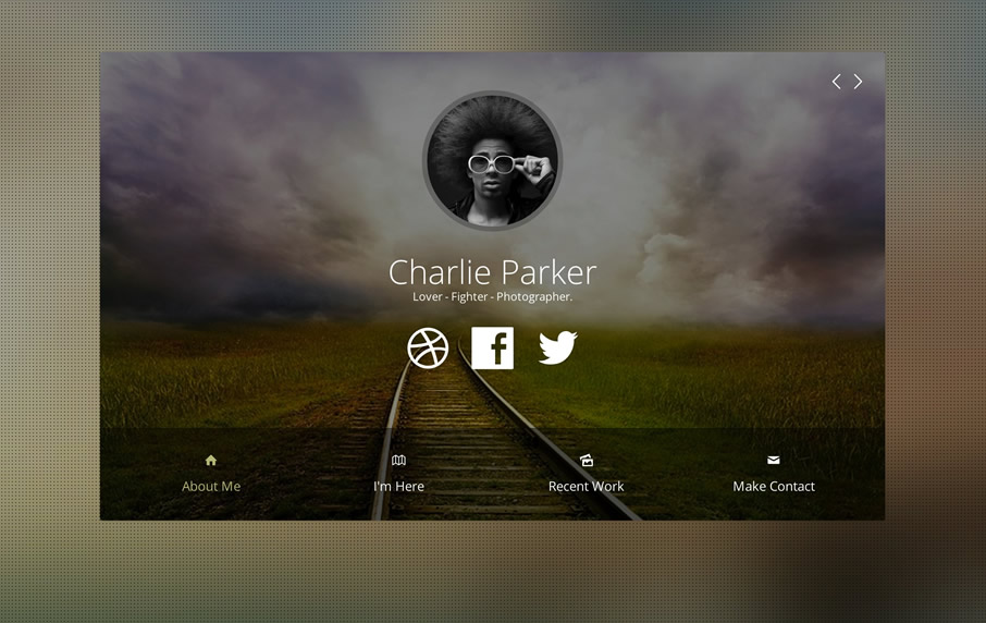 Personal Responsive Joomla Template Profile – Profile Templates