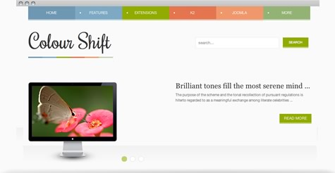 Colourshift Joomla Template