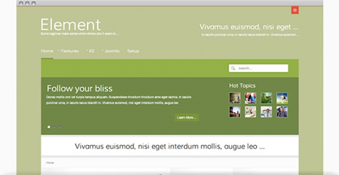 Element - A Colourful Joomla Template
