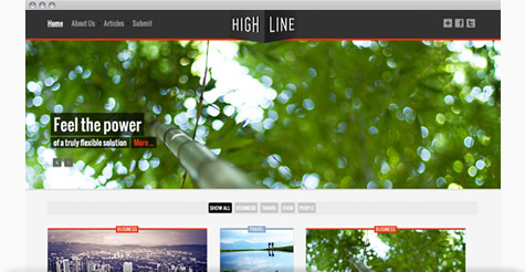 Highline Joomla Template
