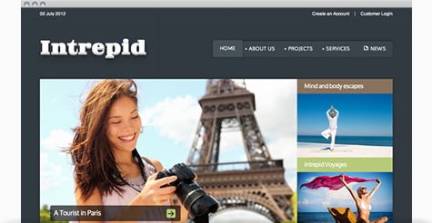 Intrepid Joomla Template