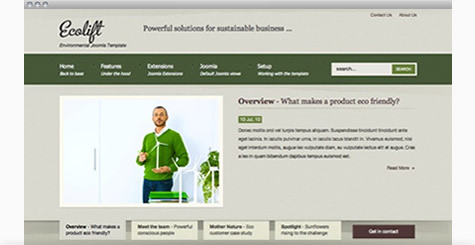 Ecolift - Eco friendly Joomla template