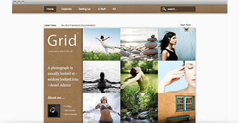 Grid2 - Magazine photography template