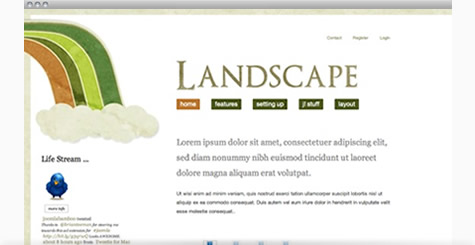 Landscape - Fun and playful Joomla Template
