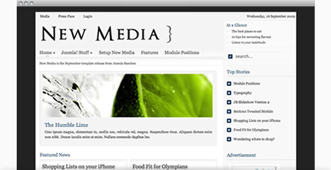 New Media - Joomla News Template