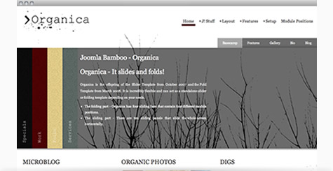 Organica - Natural White Joomla Template