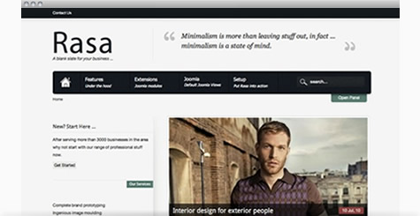 Rasa - Clean and simple business template
