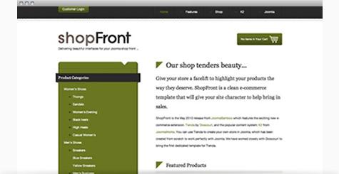 Shop joomla templates