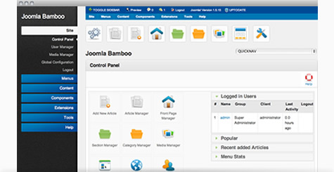 Simpla - Beautiful Joomla admin template