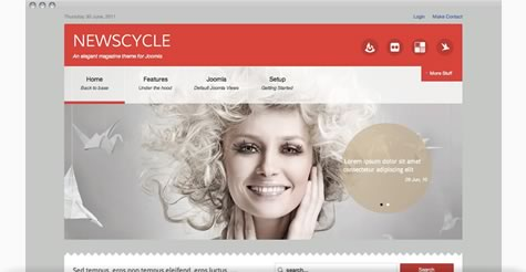 Newscycle - A beautiful Joomla Template
