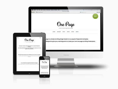 Simple one page joomla template one page joomlabamboo for Joomla empty template