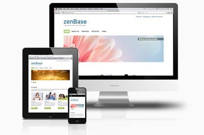 free responsive joomla template | zenbase | joomlabamboo, Powerpoint templates